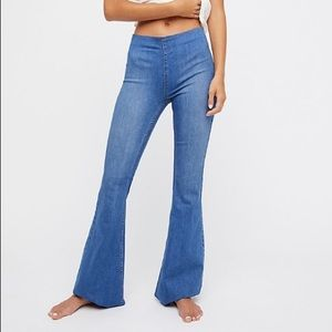 Free people penny pull up flare jeans